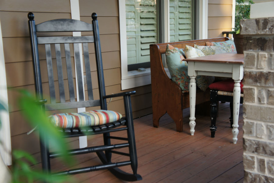 Front Porch Rocking Chair Decor Pillows