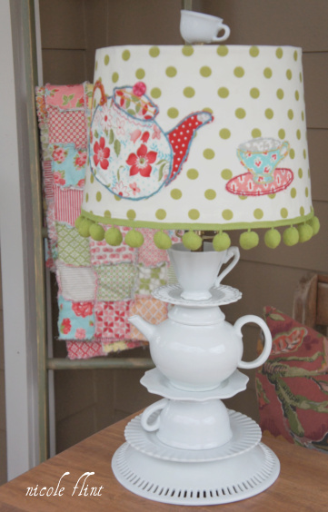 19 weeks & a lampshade redo